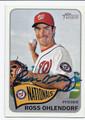 ROSS OHLENDORF WASHINGTON NATIONALS AUTOGRAPHED BASEBALL CARD #71316B