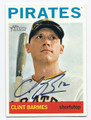 CLINT BARMES PITTSBURGH PIRATES AUTOGRAPHED BASEBALL CARD #71416D