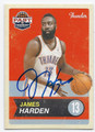 JAMES HARDEN OKLAHOMA CITY THUNDER AUTOGRAPHED BASKETBALL CARD #71516D
