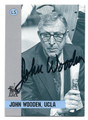 JOHN WOODEN UCLA BRUINS AUTOGRAPHED BASKETBALL CARD #71616B
