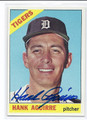 HANK AGUIRRE DETROIT TIGERS AUTOGRAPHED VINTAGE BASEBALL CARD #71616C