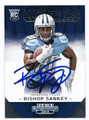 BISHOP SANKEY TENNESSEE TITANS AUTOGRAPHED ROOKIE FOOTBALL CARD #71916C