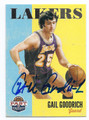 GAIL GOODRICH LOS ANGELES LAKERS AUTOGRAPHED BASKETBALL CARD #71916D