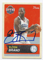 ELTON BRAND PHILADELPHIA 76ers AUTOGRAPHED BASKETBALL CARD #71916E
