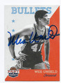 WES UNSELD AUTOGRAPHED BASKETBALL CARD #72016B