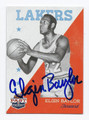 ELGIN BAYLOR LOS ANGELES LAKERS AUTOGRAPHED BASKETBALL CARD #72116A