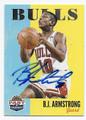 B.J. ARMSTRONG CHICAGO BULLS AUTOGRAPHED BASKETBALL CARD #72116B
