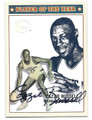 CAZZIE RUSSELL UNIVERSITY OF MICHIGAN WOLVERINES AUTOGRAPHED BASKETBALL CARD #72416D