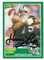 HOWIE LONG LOS ANGELES RAIDERS AUTOGRAPHED VINTAGE FOOTBALL CARD #72416E