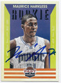 MAURICE HARKLESS ORLANDO MAGIC AUTOGRAPHED ROOKIE BASKETBALL CARD #72516C