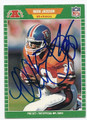 MARK JACKSON DENVER BRONCOS AUTOGRAPHED VINTAGE FOOTBALL CARD #72516D