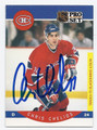 CHRIS CHELIOS MONTREAL CANADIENS AUTOGRAPHED HOCKEY CARD #72616B