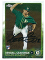 KENDALL GRAVEMAN OAKLAND ATHLETICS AUTOGRAPHED ROOKIE BASEBALL CARD #72616D