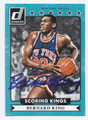 BERNARD KING NEW YORK KNICKS AUTOGRAPHED BASKETBALL CARD #72716D