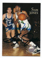 JERRY WEST & SAM JONES DOUBLE AUTOGRAPHED BASKETBALL CARD #73016C