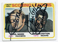 ERROL MANN & WALTER PAYTON DOUBLE AUTOGRAPHED VINTAGE FOOTBALL CARD #80216F