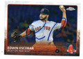 EDWIN ESCOBAR BOSTON RED SOX AUTOGRAPHED ROOKIE BASEBALL CARD #80416D