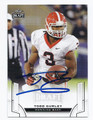 TODD GURLEY UNIVERSITY OF GEORGIA BULLDOGS AUTOGRAPHED ROOKIE FOOTBALL CARD #80616A