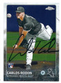 CARLOS RODON CHICAGO CUBS AUTOGRAPHED ROOKIE BASEBALL CARD #80816E