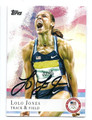 LOLO JONES AUTOGRAPHED OLYMPIC TRACK & FIELD CARD #80916A