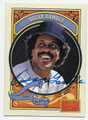 OSCAR GAMBLE NEW YORK YANKEES AUTOGRAPHED BASEBALL CARD #80916C