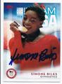 SIMONE BILES US OLYMPIC TEAM GYMNASTICS AUTOGRAPHED CARD #81616A