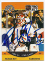 PATRICK ROY MONTREAL CANADIENS AUTOGRAPHED HOCKEY CARD #81616E