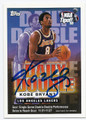 KOBE BRYANT LOS ANGELES LAKERS AUTOGRAPHED BASKETBALL CARD #81716C