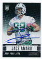 JACE AMARO NEW YORK JETS AUTOGRAPHED ROOKIE FOOTBALL CARD #81816C