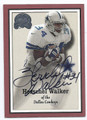 HERSCHEL WALKER DALLAS COWBOYS AUTOGRAPHED FOOTBALL CARD #82016E