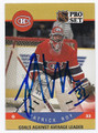 PATRICK ROY MONTREAL CANADIENS AUTOGRAPHED HOCKEY CARD #82016F