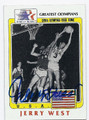 JERRY WEST TEAM USA AUTOGRAPHED OLYMPICS BASKETBALL CARD #82316B