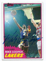 MIKE COOPER LOS ANGELES LAKERS AUTOGRAPHED VINTAGE BASKETBALL CARD #82616C