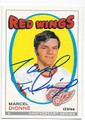 MARCEL DIONNE DETROIT RED WINGS AUTOGRAPHED HOCKEY CARD #90216A