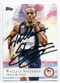 WALLACE SPEARMON US OLYMPICS TRACK & FIELD AUTOGRAPHED CARD #90316E