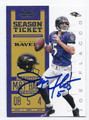 JOE FLACCO BALTIMORE RAVENS AUTOGRAPHED FOOTBALL CARD #90516B