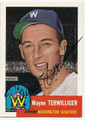 WAYNE TERWILLIGER WASHINGTON SENATORS AUTOGRAPHED BASEBALL CARD #90916E