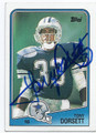 TONY DORSETT DALLAS COWBOYS AUTOGRAPHED VINTAGE FOOTBALL CARD #91016A