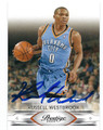 RUSSELL WESTBROOK OKLAHOMA CITY THUNDER AUTOGRAPHED BASKETBALL CARD #91016D