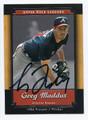 GREG MADDUX ATLANTA BRAVES AUTOGRAPHED BASEBALL CARD #91416E