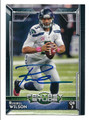 RUSSELL WILSON SEATTLE SEAHAWKS AUTOGRAPHED FOOTBALL CARD #92016C