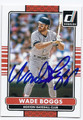 WADE BOGGS BOSTON RED SOX AUTOGRAPHED BASEBALL CARD #92816C