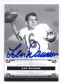 LEN DAWSON PURDUE UNIVERSITY BOILERMAKERS AUTOGRAPHED FOOTBALL CARD #93016A