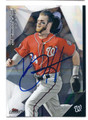 BRYCE HARPER WASHINGTON NATIONALS AUTOGRAPHED BASEBALL CARD #100116B