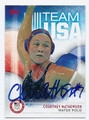 COURTNEY MATHEWSON US OLYMPIC WATER POLO AUTOGRAPHED CARD #100116E