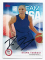 DIANA TAURASI US WOMENS OLYMPIC BASKETBALL TEAM AUTOGRAPHED CARD #100216E