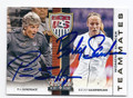 PIA SUNDHAGE & BECKY SAUERBRUNN US WOMENS SOCCER DOUBLE AUTOGRAPHED CARD #100316B