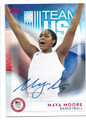 MAYA MOORE US WOMENS OLYMPIC BASKETBALL TEAM AUTOGRAPHED CARD #100416C