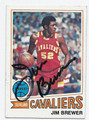 JIM BREWER CLEVELAND CAVALIERS AUTOGRAPHED VINTAGE BASKETBALL CARD #100516D