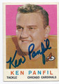 KEN PANFIL CHICAGO CARDINALS AUTOGRAPHED VINTAGE ROOKIE FOOTBALL CARD #100516F